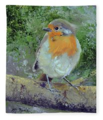 English Robin Fleece Blanket
