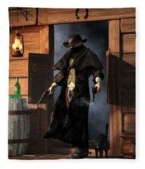 Enter The Outlaw Fleece Blanket