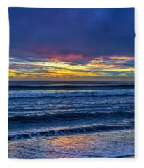 Entering The Blue Hour Fleece Blanket