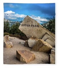 Entrance To Estes Park Fleece Blanket