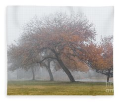 Enveloping Fog Fleece Blanket