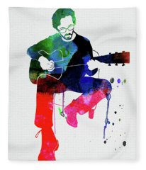 Rock And Roll Mixed Media Fleece Blankets