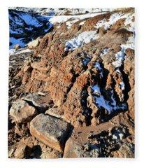 Eroded Bentonite On Ruby Mountain Fleece Blanket