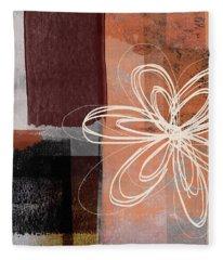 Espresso Flower 1-  Art By Linda Woods Fleece Blanket