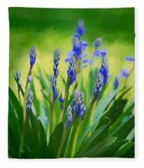 Essense Of Spring Fleece Blanket