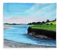 Essex River South Ipswich Fleece Blanket