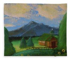 Esterbrook Chapel, Wyoming Fleece Blanket