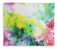 Ethereal Resonance, Fluid Pour Painting Fleece Blanket