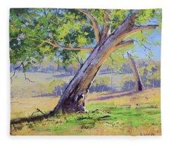 Eucalyptus Tree Australia Fleece Blanket