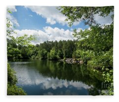Euchee Creek Park - Grovetown Trails Near Augusta Ga 2 Fleece Blanket