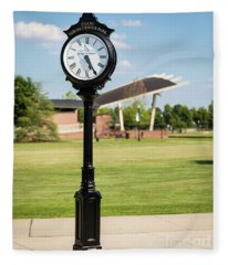 Evans Towne Center Park Clock - Columbia County Ga Fleece Blanket