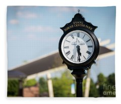 Evans Towne Center Park Clock - Evans Ga Fleece Blanket