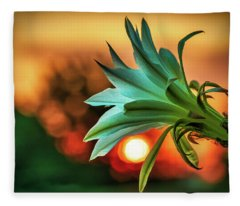 Even Those That Bloom In Darkness Can Find The Light Fleece Blanket