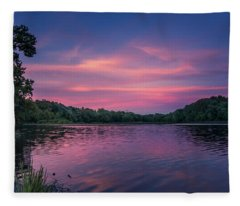 Evening At Springfield Lake Fleece Blanket