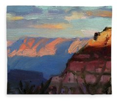 Evening Light At The Grand Canyon Fleece Blanket