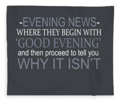 Evening News Fleece Blanket