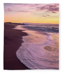 Fleece Blanket featuring the photograph Evening On Gleneden Beach by Whitney Goodey
