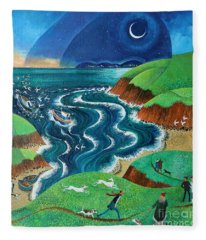 Evening Sea Breezes Fleece Blanket