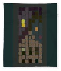 Evening Townscape Fleece Blanket