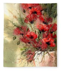 Everything About Poppies I Fleece Blanket