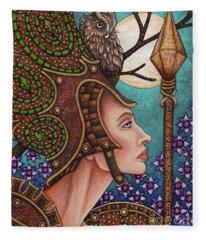 Exalted Beauty Athena Fleece Blanket