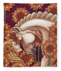 Exalted Beauty Morgan Fleece Blanket