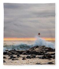 Explosive Sea 1 Fleece Blanket