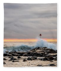 Explosive Sea 1 Fleece Blanket