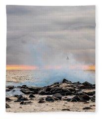 Explosive Sea 5 Fleece Blanket