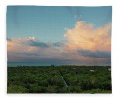 Exuma Skies Fleece Blanket