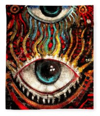 Eyes On You Fleece Blanket