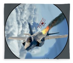 F-35 Vs The Red Baron Fleece Blanket