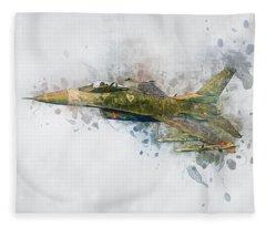 F16 Fighting Falcon Fleece Blanket