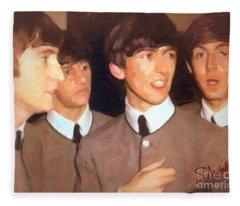 Fab Beatles Fleece Blanket