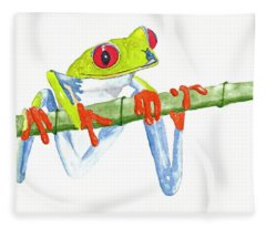 Fabio T Frog Fleece Blanket