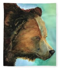 Face To Face Bear Fleece Blanket