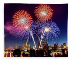 Fair St. Louis Fireworks 6 Fleece Blanket