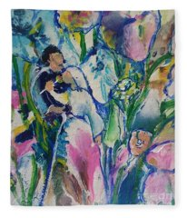 Fairest Among The Lilies Fleece Blanket