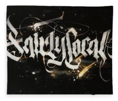 Fairly Local. Calligraphic Abstract Fleece Blanket