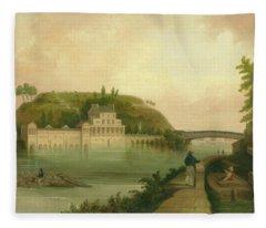 Fairmount Waterworks About 1838 Fleece Blanket