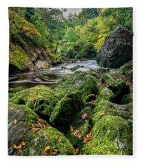 Fairy Glen Snowdonia Fleece Blanket