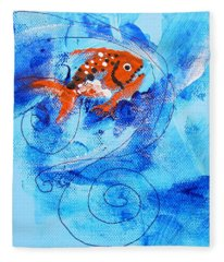 Fake Nemo Fish Fleece Blanket