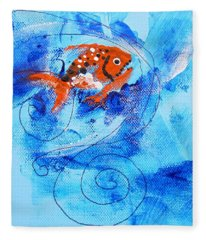 Fake Nemo Fish Fleece Blanket