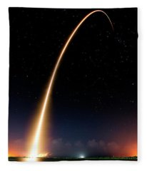 Falcon 9 Rocket Launch Outer Space Image Fleece Blanket