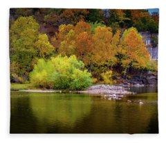 Fall Colors Of The Ozarks Fleece Blanket