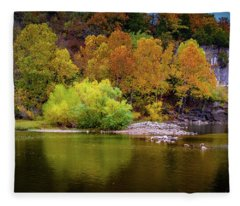 Fall Colors Of The Ozarks Fleece Blanket
