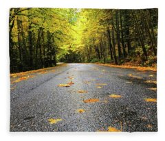Fall Drive Fleece Blanket