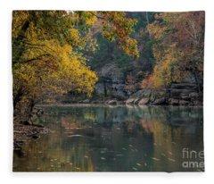 Fall In Arkansas Fleece Blanket