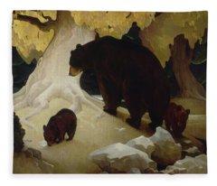 Fall In The Foothills, 1933  Fleece Blanket