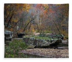 Fall On The Kings River Fleece Blanket